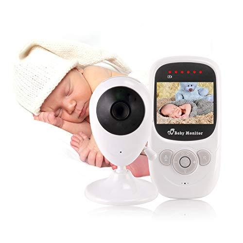 YOUYE Baby Monitor Video Wireless con Schermo a Colori LCD da 2,4 Pollici, Fotocamera Digitale, monitoraggio della Temperatura, Ninna Nanna, Visione Notturna a infrarossi, Conversazione bidirezionale