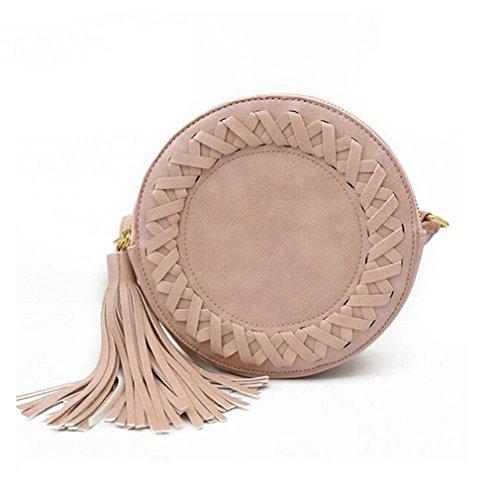 Dooney Bourke Leder Taschen (Frauen Schultertasche PU Leder Umhängetasche Woven Messenger Taschen für younth, Damen, Rot)