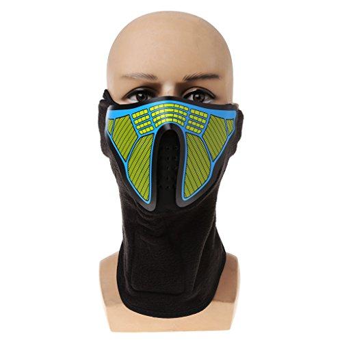 Junlinto, LED Maske Leuchtenden Schädel Maske Maske Masque Horreur Halloween Dekoration Bastelbedarf 13
