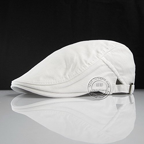 GUYOULY Hommes et Femmes Printemps Et Blanc Blanc Chapeau Avant Cap Coton Béret Casual Canard Chapeau