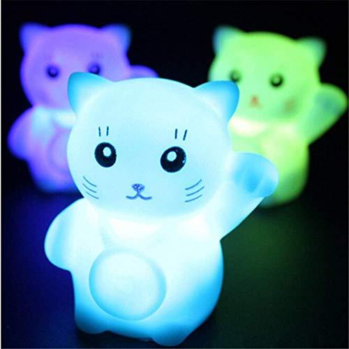 Nette Katzen-Nachtlichter ändern Farbe Buntes Schlafzimmer-Ferienhaus verzierte die Geschenke 3 der Kinder - Ferienhaus Kostüm