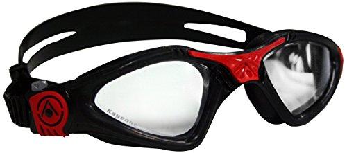 Schwimmbrille KAYENNE Small Taucherbrille Wassersport Kinder schwarz rot klar
