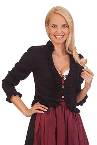 Damen Trachten Bolero - GIULIA - schwarz, Größe 32