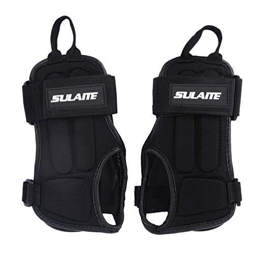 Handgelenkstütze Flexibler Anti-Rutsch-Schutz Atmungsaktiver Handgelenkschutz Rollschuh-Schutz für das Training in Schwarz - M