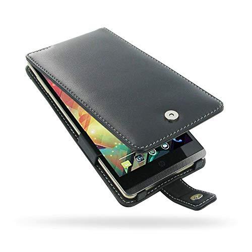PDair Handarbeit Leder Hülle - Leather Flip Case for HP Slate 6 VoiceTab Pdair Flip Case