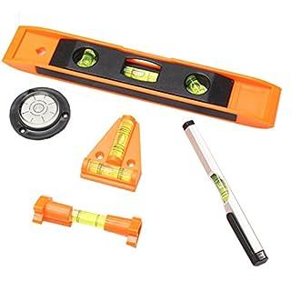 5 Piece Mini Level Set - For Plumbing, Carpentry, Masonry & More (ToolUSA: TZ7225-SET)