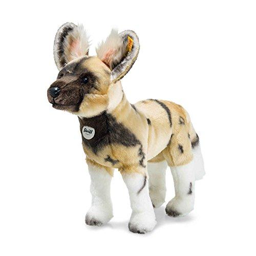 Steiff 66122 Aboki Afrikanischer Wildhund, Plüschtier, Blond, 38 cm