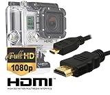 Dragon Trading® – Cable de vídeo HD micro HDMI para GoPro Hero3, Hero3+, Hero4versión en negro y versión plateada, de 1,5m