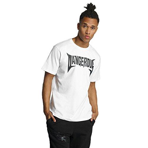 Dangerous DNGRS Herren Oberteile / T-Shirt Methal Weiß