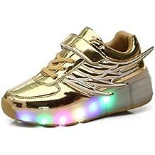 Mr.Ang Luces LED coloridos parpadeante Auto-párrafo ruedas de patines de rueda patín zapatos Zapatos del patín zapatos deportivos niños y niñas de calzado deportivo