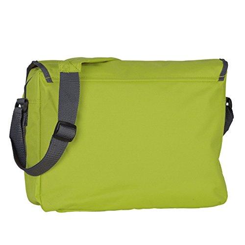 Praktische Umhängetasche / sehr robust : Tasche - mit Veri Logo - Schultasche / Schultertasche -- Farbe: pink / grau lime green