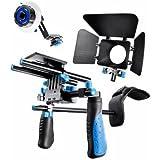 eimo Kit épaulière pour appareil photo réflex numérique avec Follow Focus et Matte Box pour tous les appareils photo réflex numériques et caméscopes