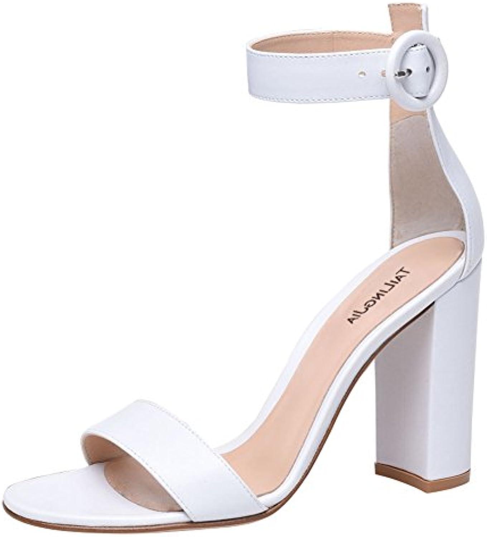 YMFIE Sandalias de Tacón Alto de Verano Europeo Open-Toe Sexy Temperamento de la Moda Fina con Zapatos Boca de... -