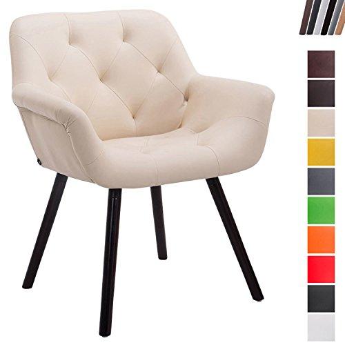 CLP Besucher-Stuhl CASSIDY - Kunstleder-Bezug - Retro-Stuhl mit Armlehne - sesselförmiger Sitz - gepolstert