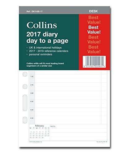 Collins Kalendereinlage 2017 für Planer/Organizer, 1Tag pro Seite