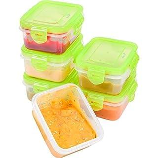 elacra aufbewahrung babynahrung, snackbox kinder, babynahrung einfrieren beh‰lter, 180 ml x 6