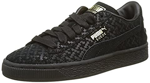 Puma Unisex-Kinder Batman Suede FM Jr Low-Top, Schwarz (Black Black Team Gold 01), 36 EU