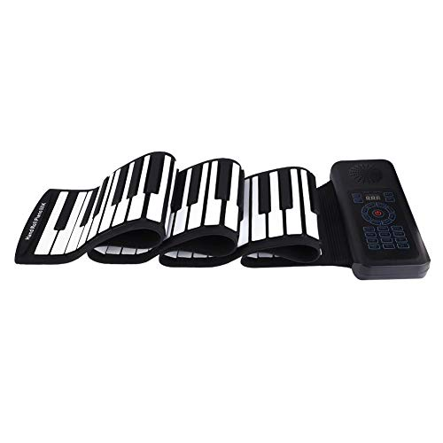 Roll Up Klavier, Tragbares 88 Tasten Flexible Roll Up Piano Faltbare Wiederaufladbar elektronische Tastatur Soft USB MIDI-Keyboard Rollpiano Musikinstrumente Für Erwachsene Anfänger Studenten - Kompakte Flexible Tastatur
