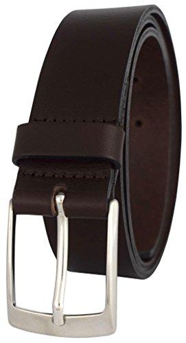 PREMIUM Ledergürtel in schwarz & braun aus echtem Vollrindleder *MADE IN GERMANY* 100% Echt-Leder – Jeans-Gürtel & Anzug-Gürtel – Ledergürtel Herren – Männergürtel - Lederguertel - 3,5 cm, braun 105