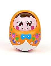 Popsugar Push and Shake Tumbler Doll with Happy Face and Sounds Toy for Kids