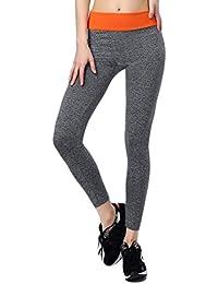 EOZY Femme Pantalon Sport Extensible Leggings Collant Jogging Fitness Cheville