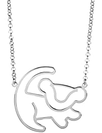 Disney Couture Classic Lion King Platinum-Plated Simba Outline Necklace