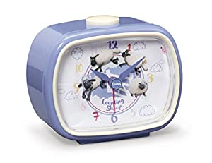 NICI 41481Shaun Das Schaf Despertador, 11x 9x 6cm, Color: Azul/Blanco