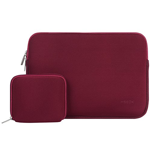 "HSEOK Housse pour MacBook Air 13"" & 14"" Dell/Ausu/Acer/HP/Toshiba/Lenovo, Pochette Mac Waterproof & Legere, [Dimension Intérieure:34,5 x 24,5 cm]-Vin Rouge"