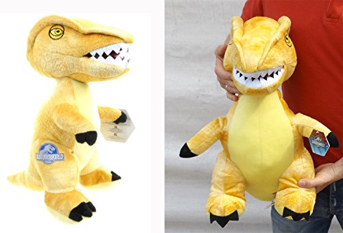 Brigamo 24017 - Jurassic World© gelber Velociraptor Plüsch DINOSAURIER IN XL GRÖßE! thumbnail