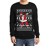 Weihnachten Dab vom Weihnachtsmann Weihnachtspullover Xmas Pulli Sweatshirt Large Schwarz