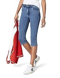 Vero Moda NOS Damen Hose VMHOT SEVEN NW DNM SLIT KNICKER MIX NOOS, Blau (Medium Blue Denim), W(Herstellergröße: L)