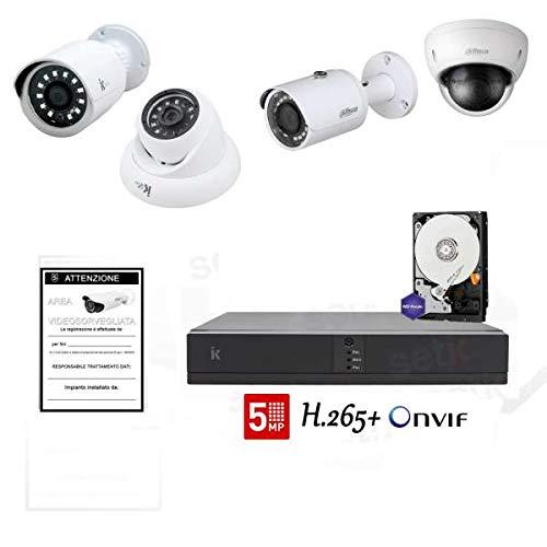 Kit Videoüberwachung IP 8Kanäle mit Kameras Megapixel Professionelle–setik