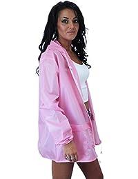 Clothing Trader Abrigo Impermeable - Gabardina - Liso - Manga Larga - 80 DEN - para