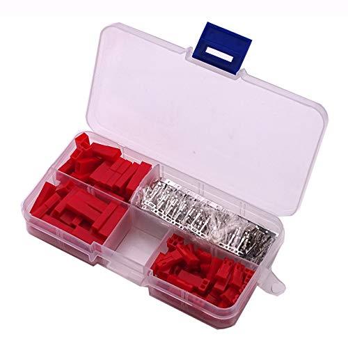 Pin Female-crimp-gehäuse (300 Stücke 2,54mm JST SYP 2-Pin Female & Male Red Stecker Gehäuse Crimp Terminal Connector Kit DIY Kit)