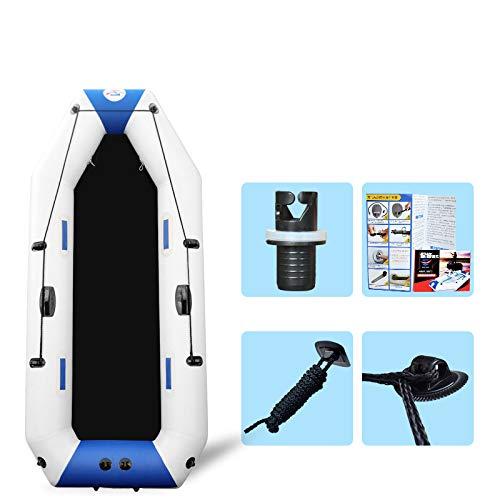 Aerodeslizador - Bote Grueso Barco De Pesca Duro Bote Inflable Kayak Azul...