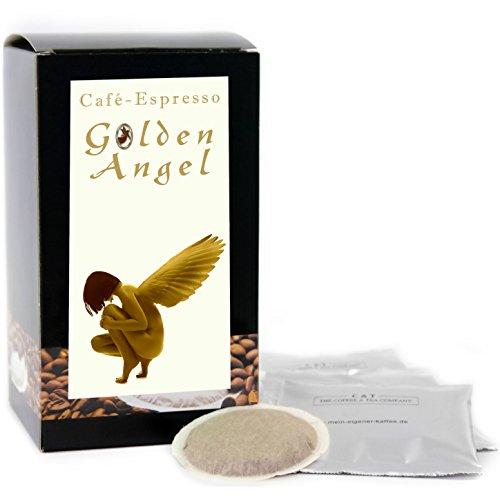 C&T Premium Kaffeepads Espresso Golden Angel 15 Stück | Pads für Senseo Kaffeemaschine | Dunkle...