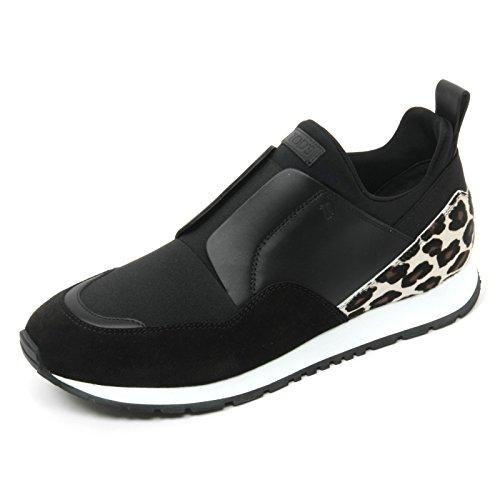 B9618 sneaker donna TOD'S scarpa sportivo yo nero/maculato shoe woman Nero
