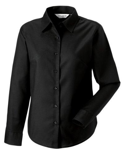 russell-collection-camisa-de-manga-larga-con-tejido-oxford-de-facil-cuidado-para-mujer