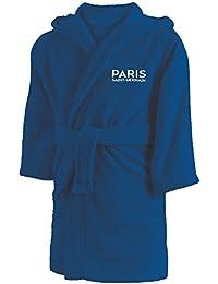 PSG 044265 Peignoir Coton Bleu 10-12 ans 72d3e50fb558e