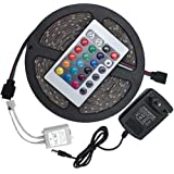 5m LED Strip lights 3528 water resistant RGB with Remote Control and power adapter