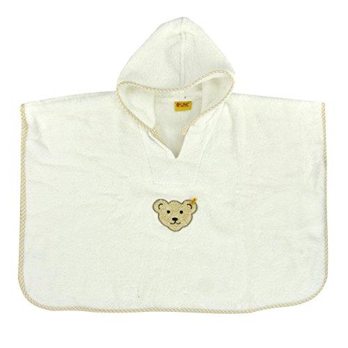 Steiff Unisex - Baby Bademantel Bade Poncho, Einfarbig, Gr. One Size (Herstellergröße: 0), Weiß (Bright White White 1000)