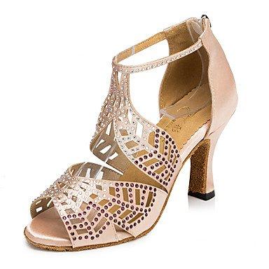 Scarpe da ballo-Da donna-Balli latino-americani / Jazz / Sneakers da danza moderna / Moderno-Quadrato-Di pelle-Nero / Black
