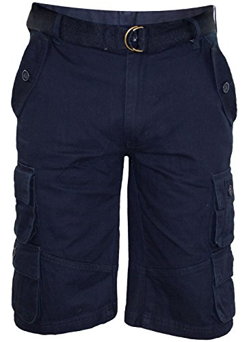 New-Mens-Free-Belt-Bermuda-Cotton-Combat-Cargo-Pocket-Work-Shorts-Casual-Pants