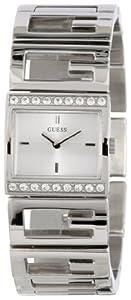 Reloj Guess W90064L1 de cuarzo para mujer con correa de acero inoxidable, color plateado de GUESS
