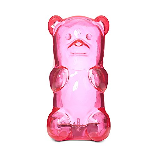 Gummygoods Squeezable Gummy Bear Night Light, Portable with 60 Minute Sleep Timer, Pink