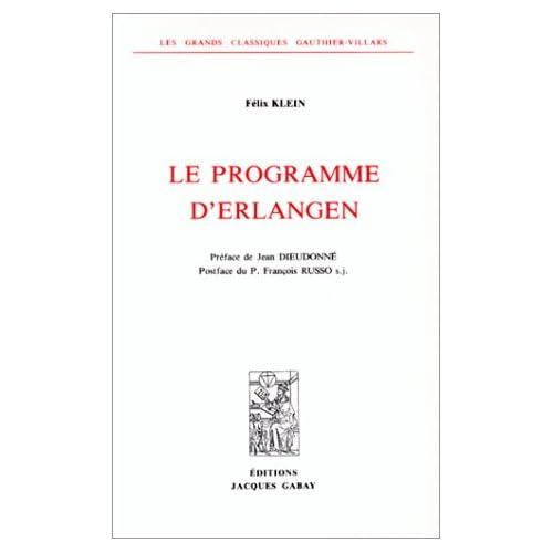 LE PROGRAMME D'ERLANGEN