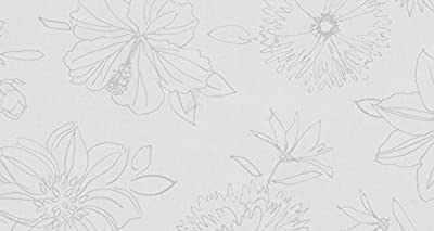 Wachstuch Breite & Länge wählbar - d-c-fix Blumen Palmas Weiss - ECKIG Main Breite 80,90,100,110,120,130 und 140 cm Länge wählbar abwaschbare Tischdecke Wachstücher Gartentischdecke von DHT-Wachstuch auf Gartenmöbel von Du und Dein Garten
