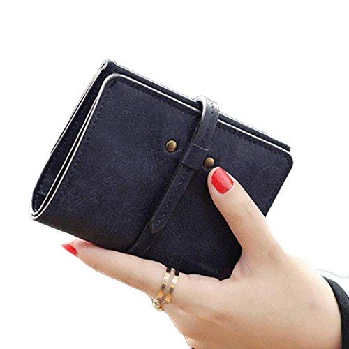 Nappa Leder Schulter Tote (brieftasche damen Kolylong Frau Bifold PU-Leder Mini-Geldbeutel (11.8*9cm/4.6*3.5