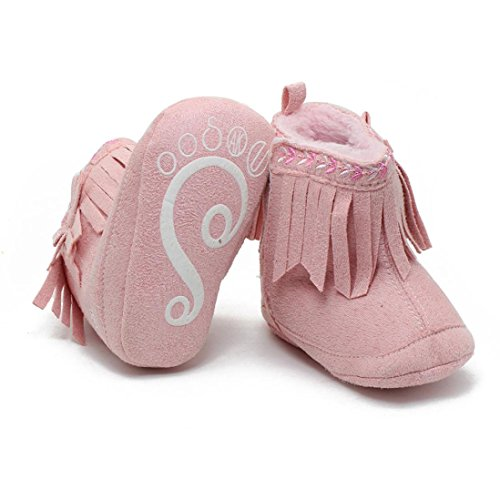 Chaussures Bébé Clode® Enfant en bas âge nouveau-né bébé fille chaussures chaussures semelle souples (12 ~ 18 mois, Kaki) Rose