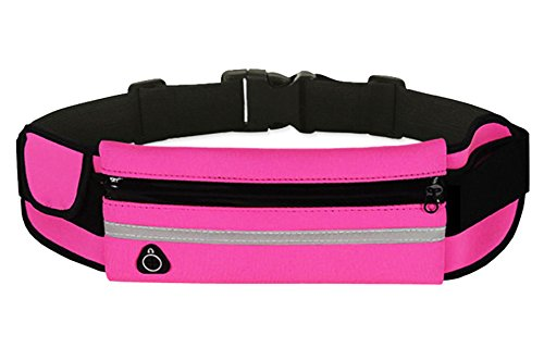 Sichyuan correre cintura marsupio impermeabile per IPHONE6PLUS/7PLUS/6s/7sport, viaggi, escursionismo marsupio per uomini e donne. Pink